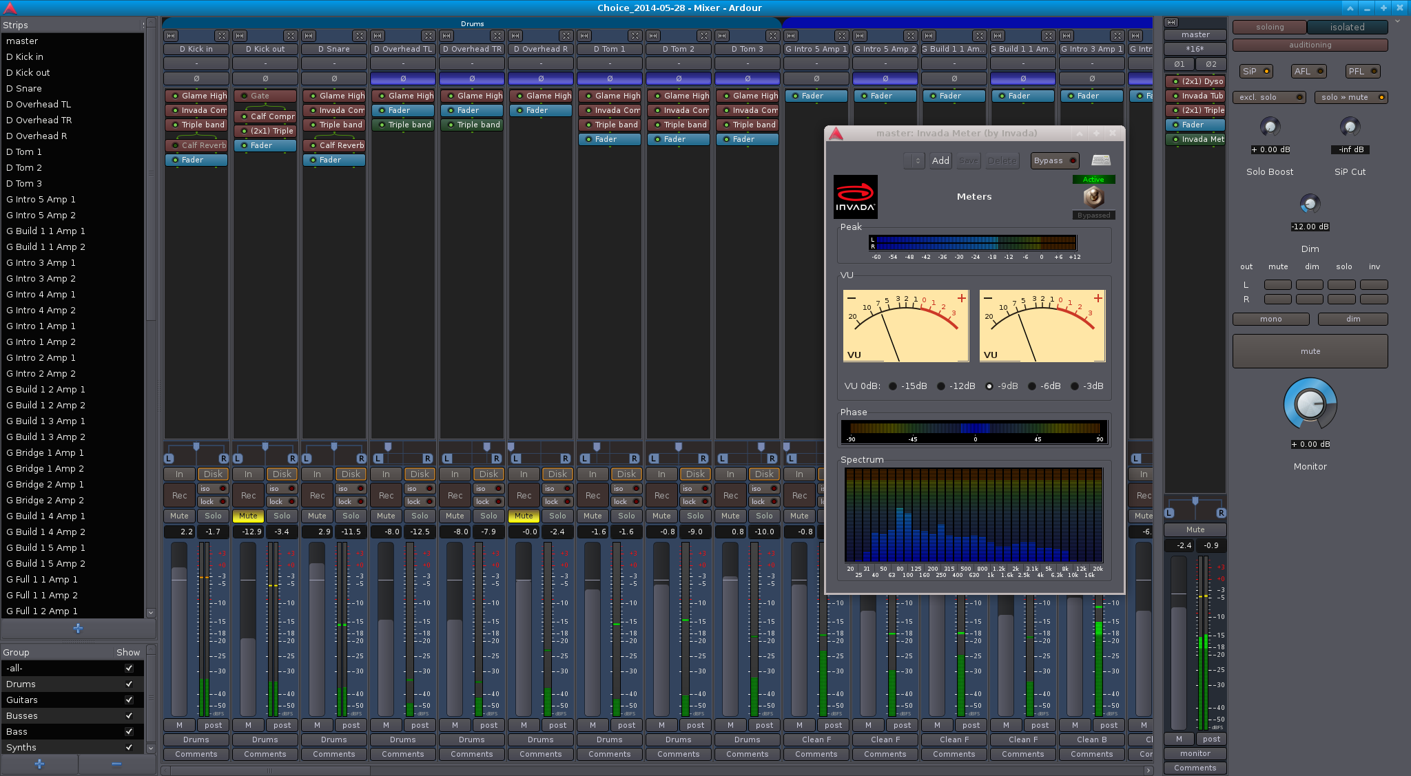 "Ardour Mixer for ""Choice"""